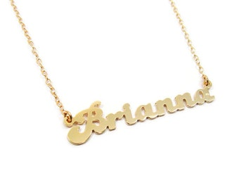 Name necklace.Personalized gold necklace. Gold plated sterling silver necklace. Gold name necklace. Gold personalized necklace. Name jewelry