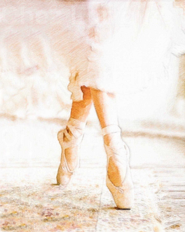 Flowing A Ballet Dance Watercolor Fine Art Print Home