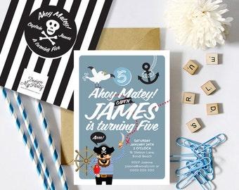 Pirate Invitations (Personalised DIY Printables)