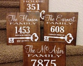 Rustic Address Sign / Family Name Plaque / Housewarming Gift / Home Established Sign