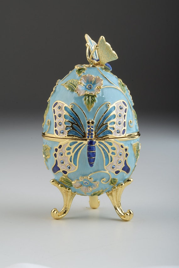 Old Ceramic Egg Hinged Type Fabergé Ceramic Porcelain Painting