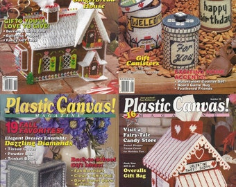 Set of 4 Plastic Canvas! Magazines, Numbers 17, 18, 22 & 48