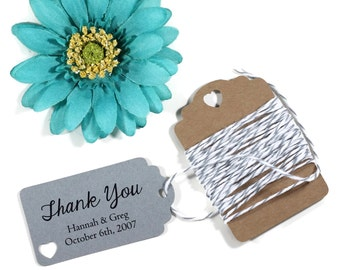 Grey Wedding Tags Set of 20 - Small Personalized Gift Tags - Grey Favor Tags - Bridal Shower Nail Polish Gift Tags - Dark Grey Wedding Favor
