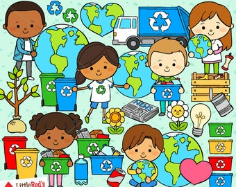 Earth Day Clip Art - personal and commercial use