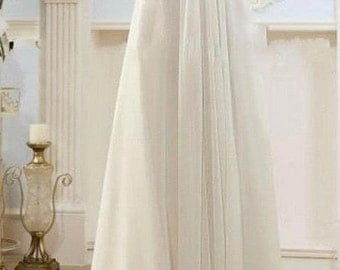 Modest Wedding Gowns Capped Sleeves Empire Waist
