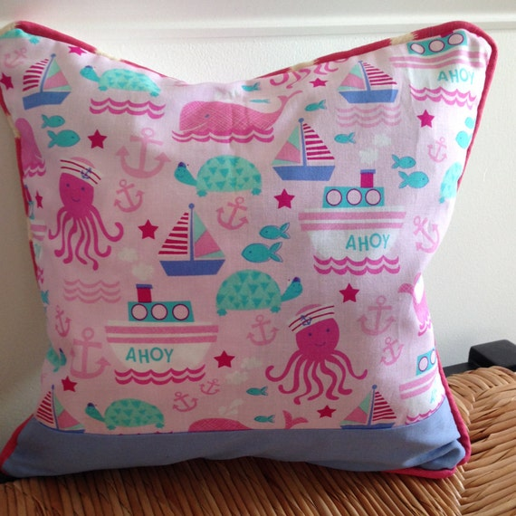 12 Inch Throw Pillow Covers : Girl Pillow Cover 12 x 12 inch Pink Pillow Cover Little Girl