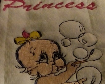 Baby embroider burp pads