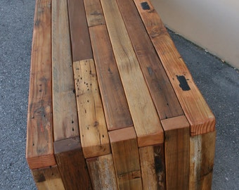 The Urbane Bench/Coffee Table made from Reclaimed Cedar