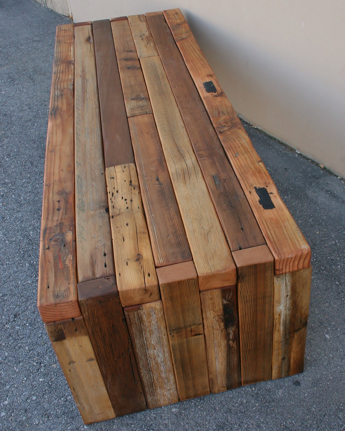 Make A Reclaimed Wood Coffee Table: The Urbane Bench/Coffee Table Made From Reclaimed Cedar
