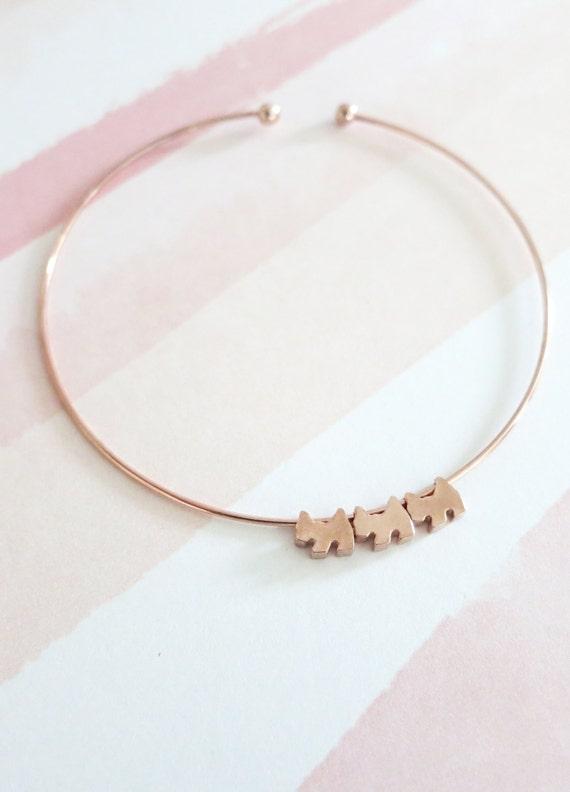 Little Dogs Puppies Bangle bracelet Jewellery, Personalized Gift, Bangles, Rose Gold Silver Bangles, Bridal shower gift Bracelet, dog lover