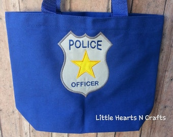 Embroidered Police tote, trick or treat Tote Bag