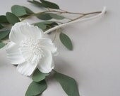 3D Printed Icelandic Poppy No. 3 - Nylon Flower in White or Black