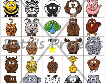Animals Bingo Game Digital Download