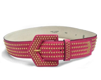 SAINT LAURENT 'Rive Gauche' studded belt