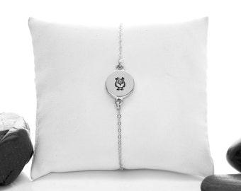 Owl Jewelry, Owl Bracelet, Owl, Owl Charm, Silver Owl, Silver Owl Jewelry, Owl Jewellery, Owls, bird Jewelry, Owl Charm Bracelet, b246mSS