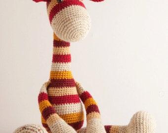 Large giraffe crochet amigurumi PDF pattern