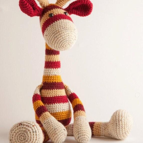Amigurumi Hello Kitty Abeja : Large giraffe crochet amigurumi PDF pattern