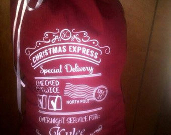 Santa Express Personalized Gift Bags