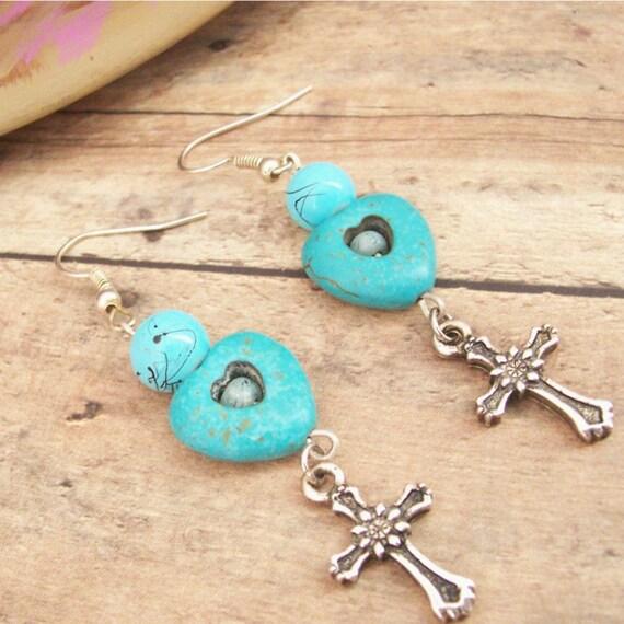 Dangling Cross Bracelet: Cross Earrings Cross Dangle Earring Christian Jewelry Small