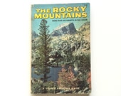 Vintage Golden Guide - The Rocky Mountains / Golden Regional Guide / Vintage Field Guide / Natural History Book / Travel Guide /Science Book