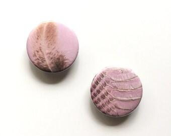 GIFT SET / Pink and Tan Locker Magnet / Pink Fridge Magnets / Bohemian Home Decor / Housewarming Gift / Office Organizer / Stocking Stuffer