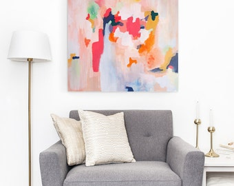 Brynn,6x6-24x24in, Giclee Abstract Fine Art Print from Original Acrylic Abstract Painting, abstract print