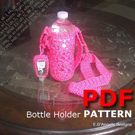Crochet Crochet Pattern Water Bottle Holder Pattern