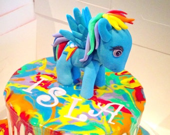 My Little Pony cake topper.  Made to order, so I can make your favourite My Little Pony character.