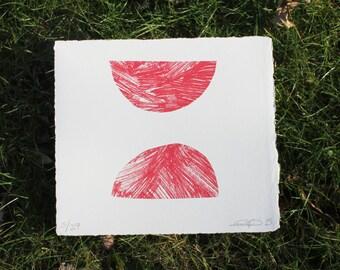 Semicircles Screenprint
