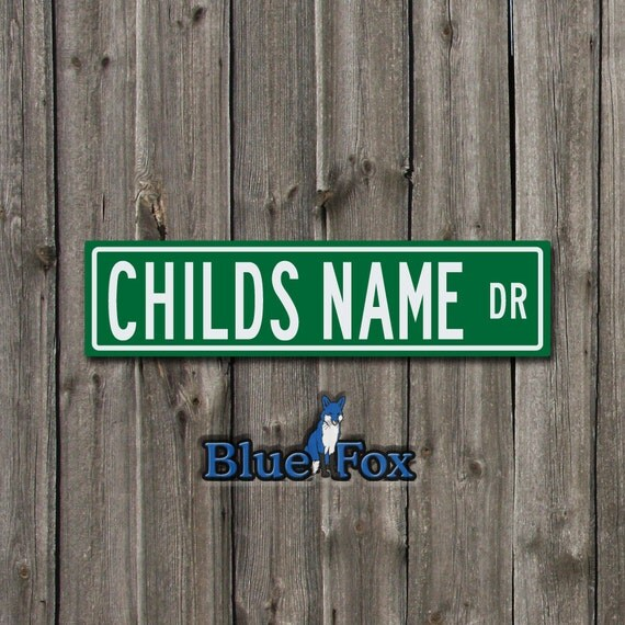 Personalized Signcustom Sign Outdoor Sign By Bluefoxgraphics