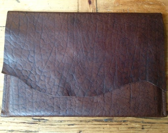 I Pad Case Brown leather with rough edge-I Pad Sleeve Brown Leather Raw Edge