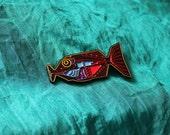 babel fish enamel pin