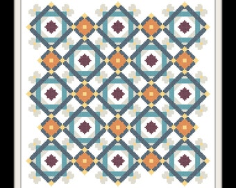 Gypsy Queen Quilt Counted Cross Stitch Pattern