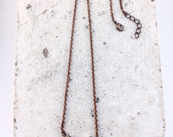 Man necklace beads metal