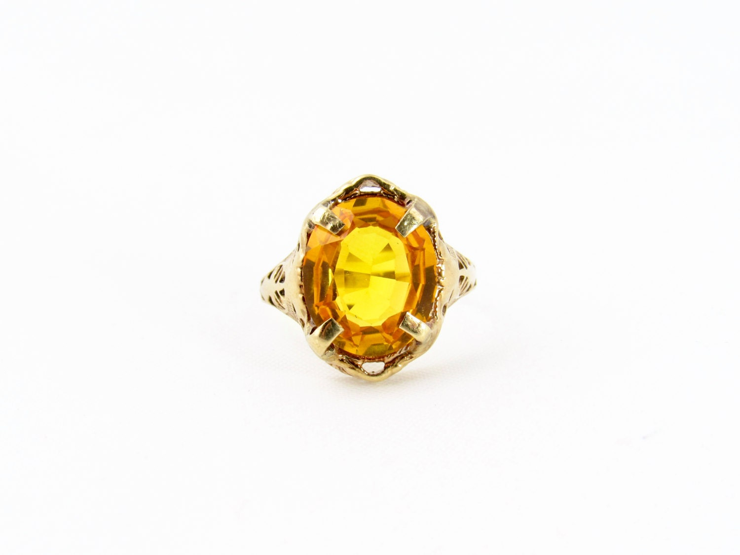 antique yellow sapphire ring ostby barton ring antique 10k