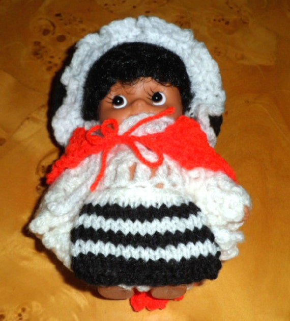 Knitting Pattern For Welsh Doll : WELSH DOLL with knitted clothes.