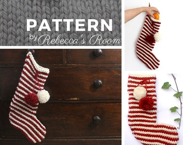 Knitted Dog Patterns : Christmas Stocking KNITTING PATTERN stocking pattern