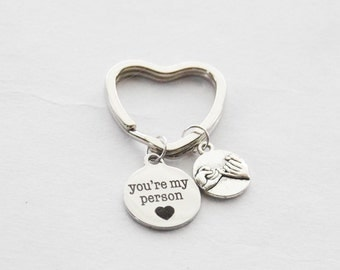 You're My Person Keychain, Pinky Swear Keychain, Best Friend Keychain, Girlfriend Keychain, Quote Keychain, Heart Keychain, Engagement Gift