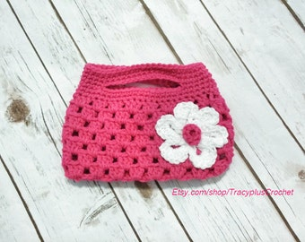 Purse. Child size. Crochet. Handmade.