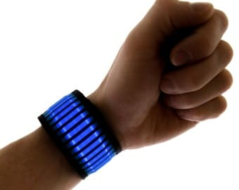 LED Slapband Bracelet, Light Up Glow in the Dark, Light Up, Rave Wear, Tron, Costume, LED