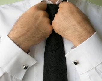 Men's Cufflinks - Crystals Cufflinks - Grooms Cufflinks - Men's Accessories - Men's Gift - Men's Jewelry - Cufflinks For Men - Groomsman CF6