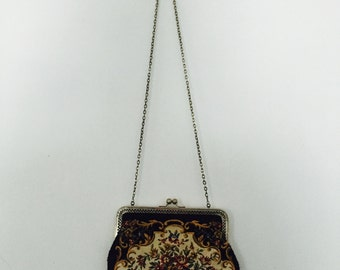 Vintage Floral Clutch/Shouder Purse