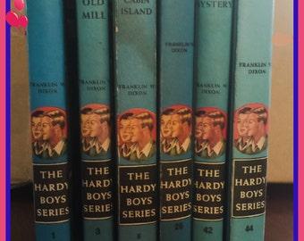 6 HARDY Boys Mystery Series Books - No. 1, No. 3, No. 8, No. 26, No. 42 & No. 44 -  ALL for One PRICE - Vintage Fun
