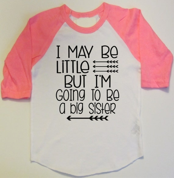 Pregnancy announcement new baby gift big sister shirt promote for Big sister birth announcement shirts