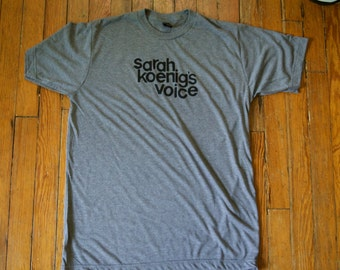 SARAH KOENIG'S VOICE / handprinted silkscreen / npr / ira glass / this american life / bowe bergdahl / adnan syed / serial / chicago / iraq