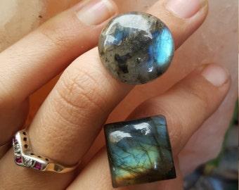 labradorire statement rings, crystal rings