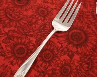 1847 Rogers Vintage 1950 Daffodil Large Meat Serving Fork Silverplate Flatware