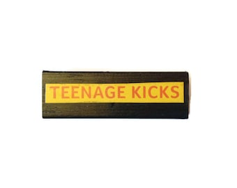 TEENAGE KICKS | Fridge Magnet | Black | Home Decor | Office Magnet | Recycled Gift |  For Her | For Him | BUZZCOCKS |