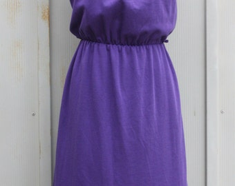 Purple Day Dress - Vintage Cap Sleeve Dress - 60s Dress - House Dress - 1960s Mod Dress - Scooter Dress - Twiggy Dress - Hipster Shirtdress