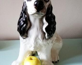 Large Ceramic Spaniel Puppy Figurine